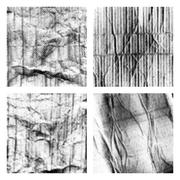 Crumpled paper textures set with halftone - stock illustration