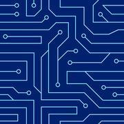 Circuit board seamless pattern Stock Illustration