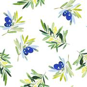 Seamless olives. - stock illustration