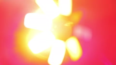 Disco Light with Bokeh Stock Footage