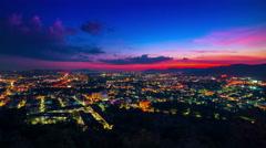 4K TimeLapse. Sunset over the Phuket Town, Thailand. - stock footage