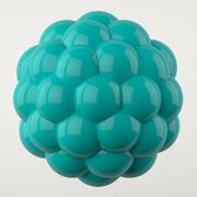 Abstract cyan spheres with reflective surface - stock illustration