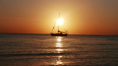 Samui island sunset view from on sail boat yacht. Stop Motion. Thailand Stock Footage