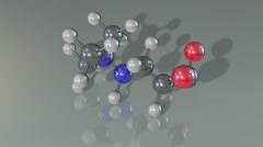 The Model of the Mildronate Molecule on Gray Background Stock Footage