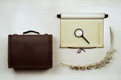 Set of travel items. - stock photo