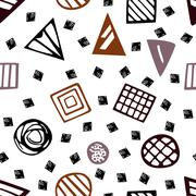 Pattern with geometric shapes eps 10 Stock Illustration