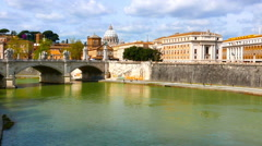 River Tiber in Rome - stock footage