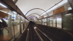 driving in the Parisian subway - stock footage