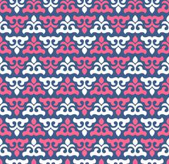 Seamless pattern with cute ornament for wallpaper - stock illustration