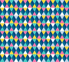 Argyle seamless pattern, four color options. Vector illustration - stock illustration