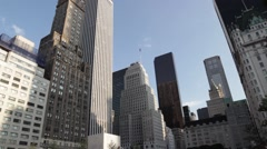 Beautiful art deco and beaux arts buildings in New York Stock Footage