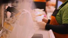 Supermarket cash register time lapse  Arkistovideo