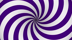 Purple and white rotating hypnosis spiral - stock footage