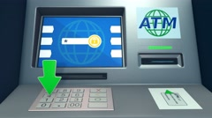 concept of atm - stock footage