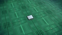 Stock Video Footage of central processing unit, cpu