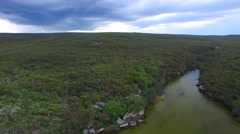 Royal National Park aerial view in New South Wales Stock Footage
