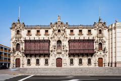 Archbishop Palace, Lima Stock Photos