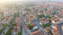 Square of Miracles aerial view in Pisa, Tuscany Stock Footage
