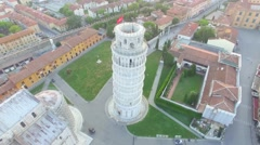 Pisa, aerial view of Square of Miracles, Tuscany - stock footage