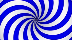 Blue and white rotating hypnosis spiral - stock footage