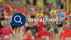 Searching for Marathons Stock Footage
