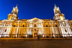 Basilica Cathedral, Arequipa - stock photo
