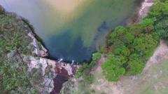 Wattamolla Falls in Royal National Park Stock Footage