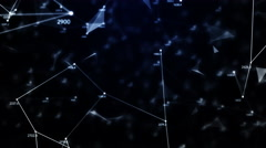 Chaotic geometric composition from dots lines triangles and random numbers Stock Footage