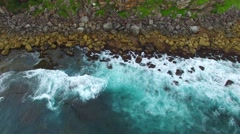 Shelly Beach aerial view in Sydney Stock Footage