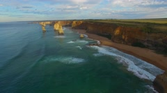 The Twelve Apostles at dawn, Port Campbell Stock Footage