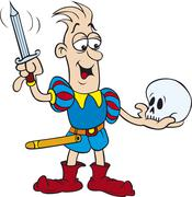 Hamlet Speach Cutout Stock Illustration