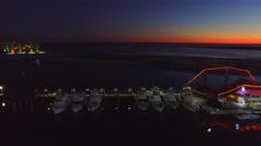 Destin at sunset, Florida Stock Footage