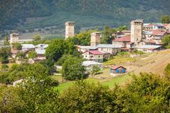 Mestia in Georgia - stock photo