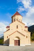 Church in Mestia - stock photo