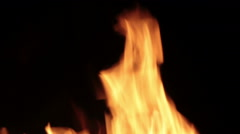 The sparks fly out of fire. - stock footage