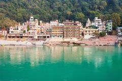 Rishikesh in India - stock photo