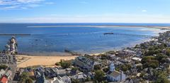 Aerial view of Provincetown, Cape Cod Stock Photos