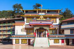 Gonjang Monastery, Sikkim Stock Photos