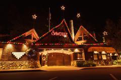Christmas holiday lights at the Laguna Sawdust Arts Festival Stock Photos