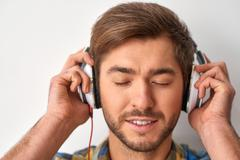 Music is very important part of my life - stock photo