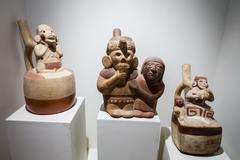 Pottery, Larco Museum - stock photo