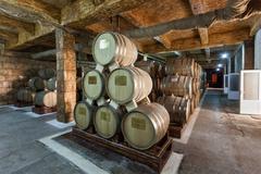 Brandy factory, Yerevan - stock photo