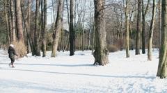 Nordic walking Stock Footage