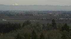 View from the Dundee hills in winter. Stock Footage