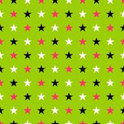 Seamles star pattern in glow punk colors Stock Illustration