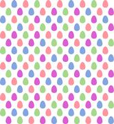 Seamless Easter egg patern in saturated pastel colors - stock illustration