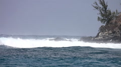 Honolua Bay, Maui Hawaii Surf 120FPS Stock Footage