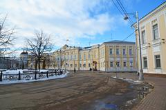 Tver, Russia - February 27. 2016.  Administration of the city of Tver, built  - stock photo