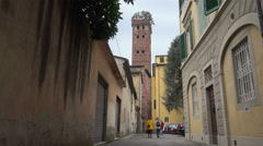 Guinigi Tower, Lucca, Italy Stock Footage