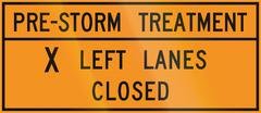 Road sign used in the US state of Virginia - Pre-storm treatment Stock Illustration